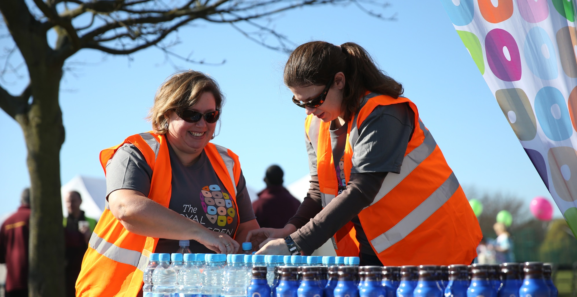 Volunteers on a refreshments stand