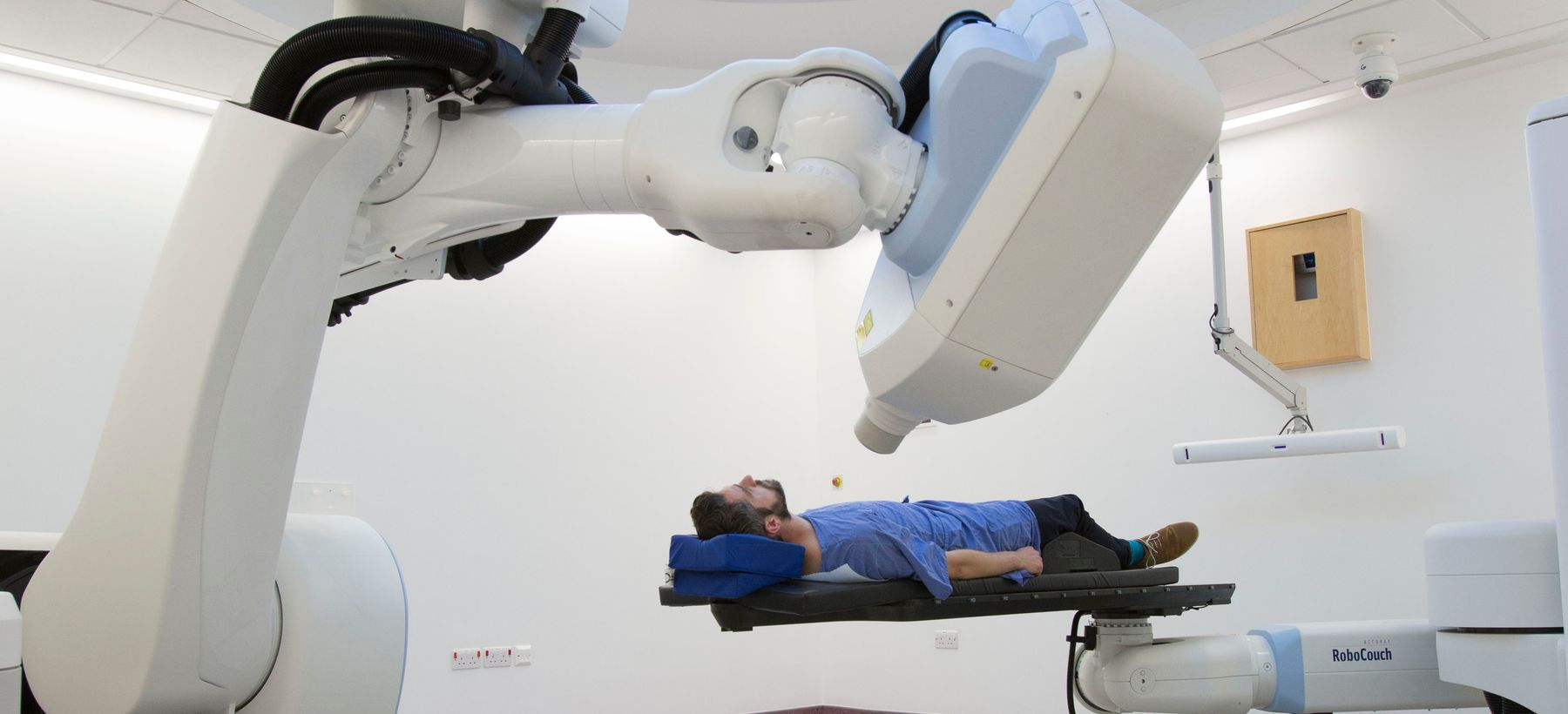 Patient being treated by CyberKnife