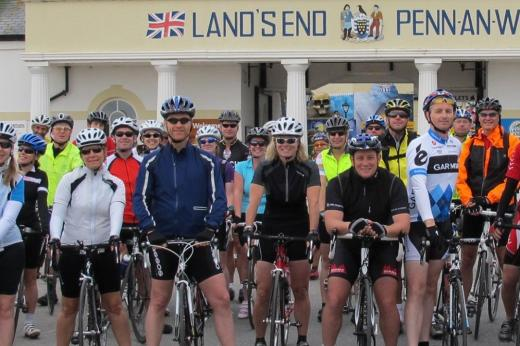 Cyclists at Land's End