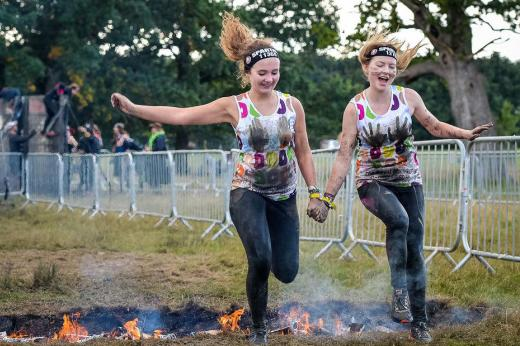 Two of our supporters take on the firewalk