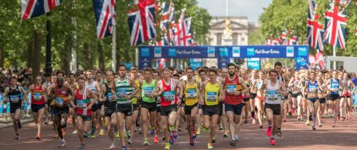 Runners on The Mall in the Vitality 10K