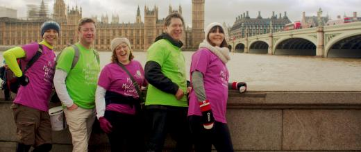 My Marsden March group in front of Houses of Parliament