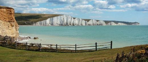 The white cliffs of the Seven Sisters