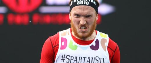 Spartan Stu - one of our participants scowls to camera