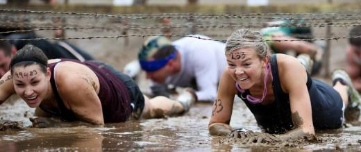 Getting muddy at Tough Mudder