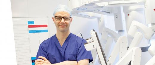 Marc Bullock, Robotics Surgical Fellow with the da Vinci Xi