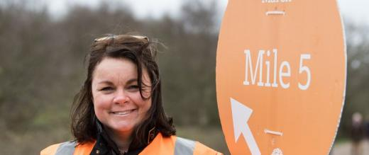Marsden March volunteer