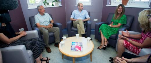 The Duke meets with patients who have received psychological support