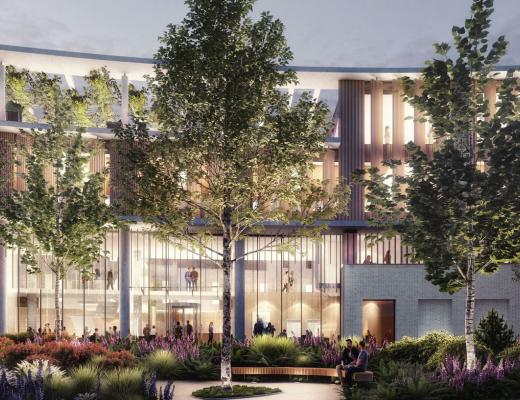 Artists impression of the new Oak Cancer Centre